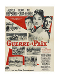 War and Peace, (AKA Guerre Et Paix),French Poster Art, 1956 Giclee Print