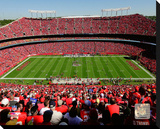 Kansas City Chiefs Arrowhead Stadium Stretched Canvas Print