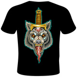 Mike Biggs- Wolf Dagger T-shirts by Mike Biggs