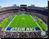 San Diego Chargers Qualcomm Stadium Stretched Canvas Print