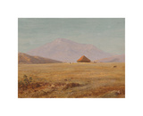 Ecuador, Mountain Plateau with Hut Premium Giclee Print by Frederic Edwin Church