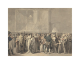 "The Public in the Salon of the Louvre, Viewing the Painting of the ""Sacre"" Premium Giclee Print by Louis Leopold Boilly"