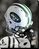 New York Jets Helmet Spotlight Stretched Canvas Print