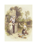 The Crockery Seller Premium Giclee Print by Myles Birkett Foster