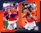 Denver Broncos - John Elway, Peyton Manning Photo Stretched Canvas Print