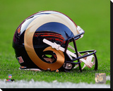 St. Louis Rams Helmet Stretched Canvas Print