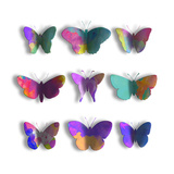 Watercolor Butterfly Pop Mate Prints