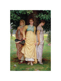 A Summer Shower Premium Giclee Print by Charles Edward Perugini