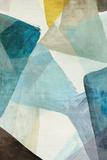 Blue Geometric I Print by  PI Studio