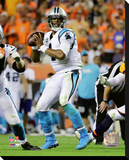 Cam Newton 2016 Action Stretched Canvas Print