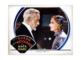 Mata Hari, from Left, Lewis Stone, Greta Garbo, 1931 Giclee Print