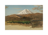 Study of Mount Chimborazo, Ecaudor Premium Giclee Print by Frederic Edwin Church