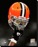 Cleveland Browns Helmet Stretched Canvas Print