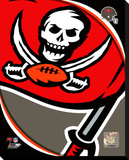 Tampa Bay Buccaneers Pop Art Logo Stretched Canvas Print