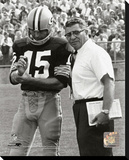 Vince Lombardi & Bart Starr Stretched Canvas Print