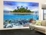 Marine Life Maldives Non-Woven Vlies Wallpaper Mural Vægplakat i tapetform