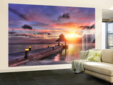 Maldives Sunset Non-Woven Vlies Wallpaper Mural Veggoverføringsbilde