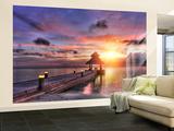 Maldives Sunset Non-Woven Vlies Wallpaper Mural - Duvar Resimleri