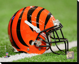 Cincinnati Bengals Helmet Stretched Canvas Print