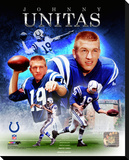 Baltimore Colts - Johnny Unitas Photo Stretched Canvas Print