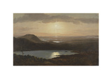 Eagle Lake Viewed from Cadillac Mountain, Mount Desert Island, Maine Premium Giclee Print by Frederic Edwin Church