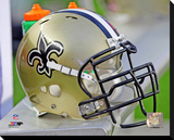 New Orleans Saints Helmet Stretched Canvas Print