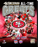 San Francisco 49ers All-Time Greats Composite Stretched Canvas Print