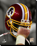 Washington Redskins Helmet Spotlight Stretched Canvas Print