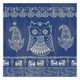 Boho Owl Blue Posters