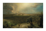Jerusalem from the Mount of Olives Premium Giclee Print by Frederic Edwin Church