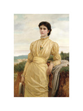 Portrait of a Lady, 1870 Premium Giclee Print by Charles Edward Perugini