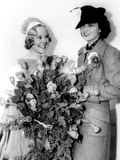 Kay Francis, Right, with Sonja Henie, after One of Henie's Ice Shows at the Polar Palace, May 1936 Photo