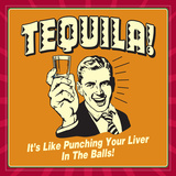 Tequila Punching Liver Posters by  Retrospoofs