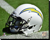 San Diego Chargers Helmet Stretched Canvas Print