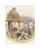 Highland Cottage Premium Giclee Print by Myles Birkett Foster