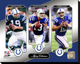 Johnny Unitas, Peyton Manning, & Andrew Luck Legacy Collection Stretched Canvas Print