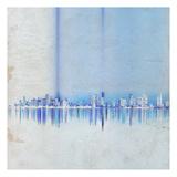 Miami in Blue Print