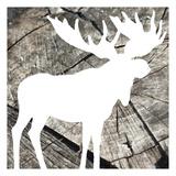 Wood Moose Reverse Posters