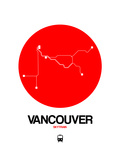 Vancouver Red Subway Map Prints by  NaxArt