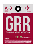 GRR Grand Rapids Luggage Tag II Prints by  NaxArt