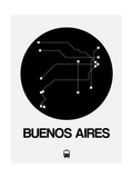 Buenos Aires Black Subway Map Art by  NaxArt