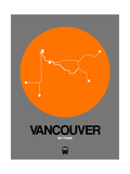 Vancouver Orange Subway Map Poster by  NaxArt