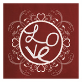 Red Chalk Love Prints