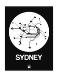 Sydney White Subway Map Posters by  NaxArt