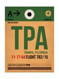 TPA Tampa Luggage Tag I Art by  NaxArt