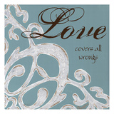 Crackle Filigree Love Posters