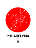 Philadelphia Red Subway Map Prints by  NaxArt