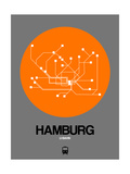Hamburg Orange Subway Map Poster by  NaxArt