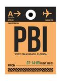 PBI West Palm Beach Luggage Tag I Prints by  NaxArt