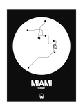Miami White Subway Map Prints by  NaxArt